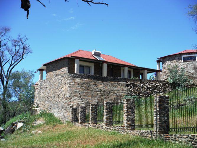 Felsenhouse from outside 2 entrance side from room 2 left